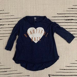 Old Navy girls top Navy blue size 5